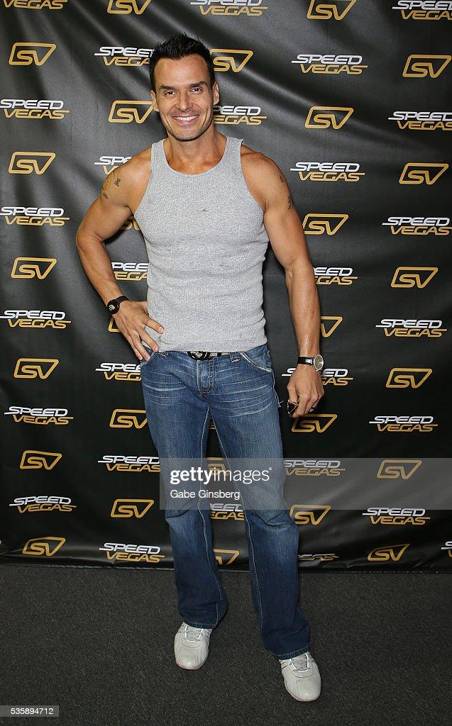 Actor/model Antonio Sabato Jr. arrives at the SpeedVegas motorsports complex on May 30, 2016 in Las Vegas, Nevada.