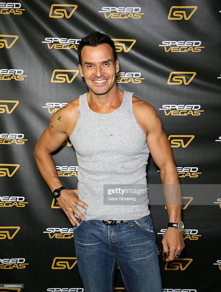 Actor/model <a gi-track='captionPersonalityLinkClicked' href=/galleries/search?phrase=Antonio+Sabato+Jr.&family=editorial&specificpeople=211332 ng-click='$event.stopPropagation()'>Antonio Sabato Jr.</a> arrives at the SpeedVegas motorsports complex on May 30, 2016 in Las Vegas, Nevada.
