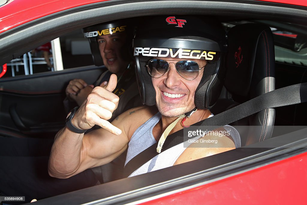 Actor/model <a gi-track='captionPersonalityLinkClicked' href=/galleries/search?phrase=Antonio+Sabato+Jr.&family=editorial&specificpeople=211332 ng-click='$event.stopPropagation()'>Antonio Sabato Jr.</a> drives a 2013 Ferrari 458 Italia at the SpeedVegas motorsports complex on May 30, 2016 in Las Vegas, Nevada.