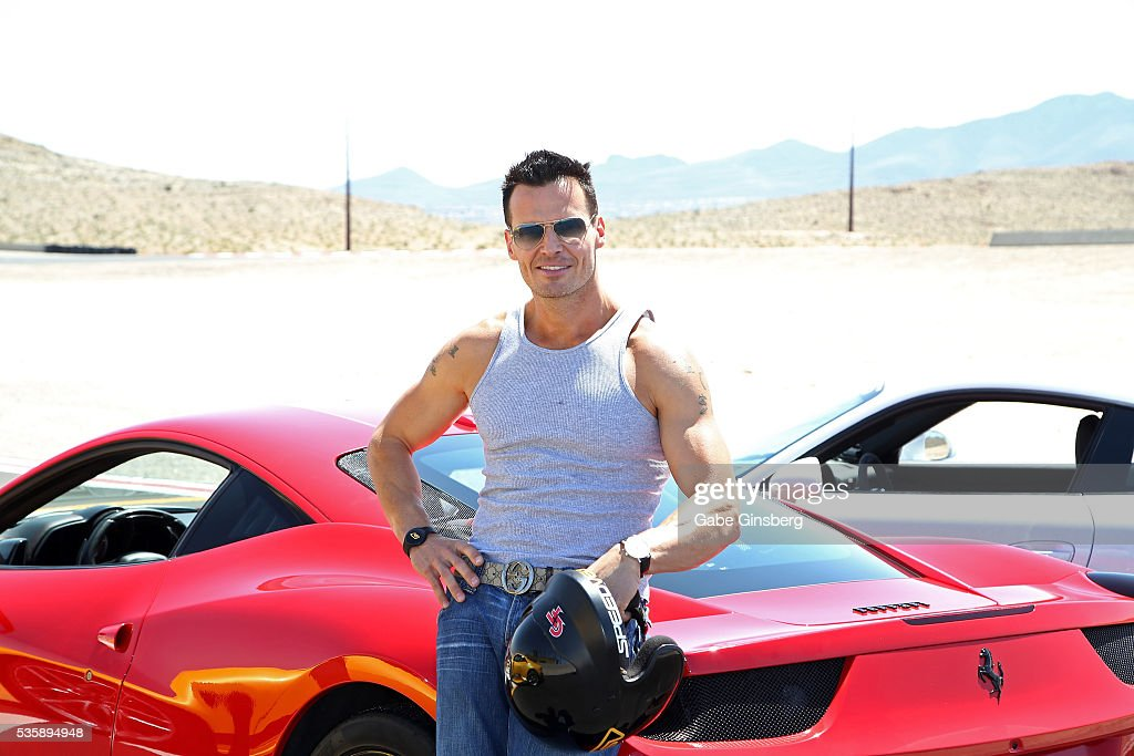 Actor/model <a gi-track='captionPersonalityLinkClicked' href=/galleries/search?phrase=Antonio+Sabato+Jr.&family=editorial&specificpeople=211332 ng-click='$event.stopPropagation()'>Antonio Sabato Jr.</a> poses with a 2013 Ferrari 458 Italia at the SpeedVegas motorsports complex on May 30, 2016 in Las Vegas, Nevada.