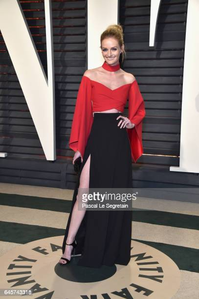 Actormodel Lydia Hearst attends the 2017 Vanity Fair Oscar Party hosted by Graydon Carter at Wallis Annenberg Center for the Performing Arts on...