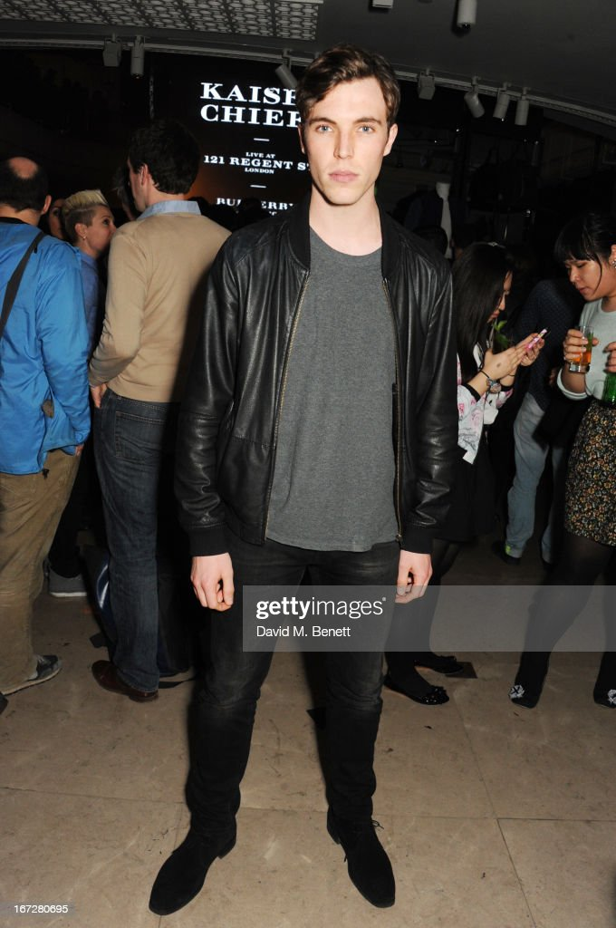Actor/model Tom Hughes attends Burberry Live at 121 Regent Street at Burberry on April 23, 2013 in London, England.
