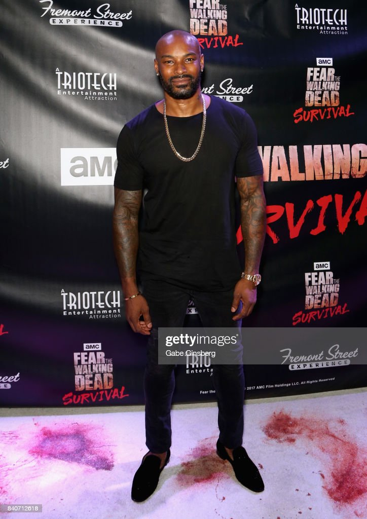 Actor/model Tyson Beckford attends the Fear the Walking Dead Survival attraction grand opening at the Fremont Street Experience on August 29, 2017 in Las Vegas, Nevada.