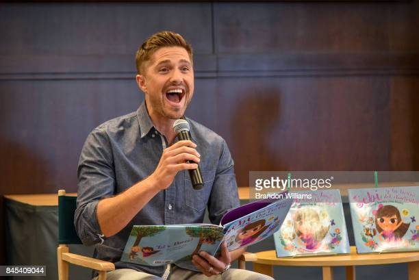 Actor/model/author Eric Winter reads from the book he coauthored with actress / author and wife Roselyn Sanchez 'Sebi and the Land of Cha Cha Cha' at...