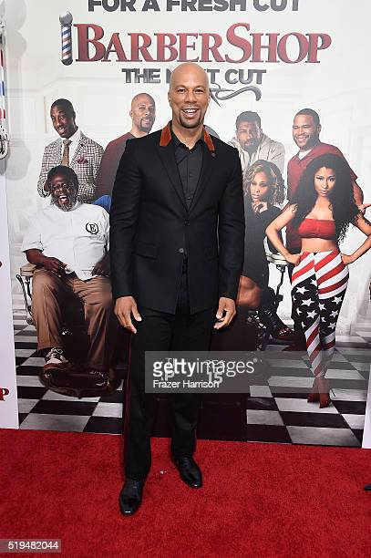 Actor/musician Common attends the premiere of New Line Cinema's 'Barbershop The Next Cut' at TCL Chinese Theatre on April 6 2016 in Hollywood...