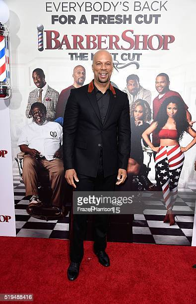 Actor/musician Common Ice attends the Premiere Of New Line Cinema's 'Barbershop The Next Cut' at TCL Chinese Theatre on April 6 2016 in Hollywood...