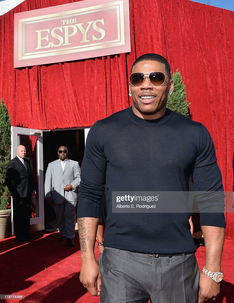 Actor/Musician Cornell <a gi-track='captionPersonalityLinkClicked' href=/galleries/search?phrase=Nelly+-+Rappare&family=editorial&specificpeople=11499081 ng-click='$event.stopPropagation()'>Nelly</a> Haynes attends The 2013 ESPY Awards at Nokia Theatre L.A. Live on July 17, 2013 in Los Angeles, California.