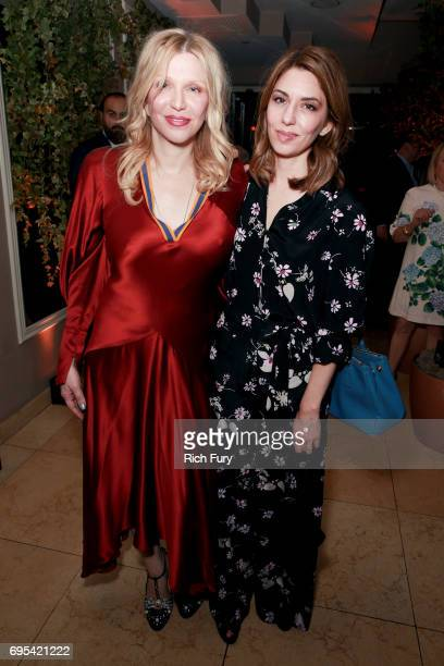 Actor/musician Courtney Love and director Sofia Coppola attend the after party for the premiere of Focus Features' 'The Beguiled' at Sunset Tower...