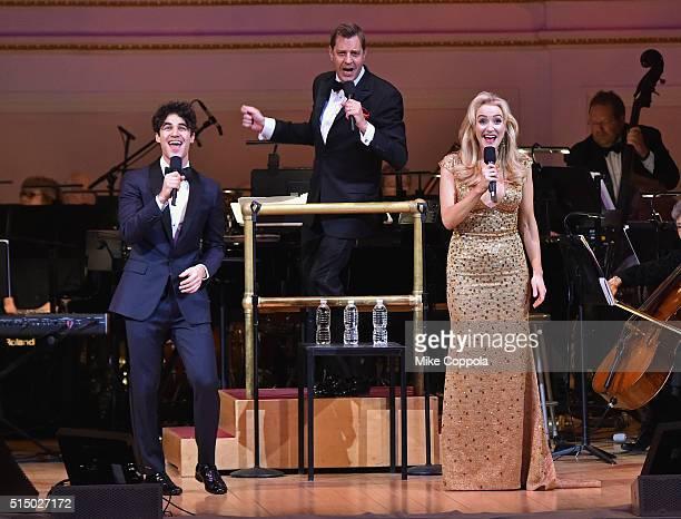 Actor/musician Darren Criss The New York Pops Muisic Director Steven Reineke and Actress Betsy Wolfe perform at The New York Pops Darren Criss and...