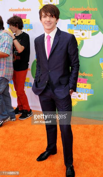 Actor/Musician Drake Bell arrives at the Nickelodeon's 2011 Kids' Choice Awards at USC Galen Center on April 2 2011 in Los Angeles California