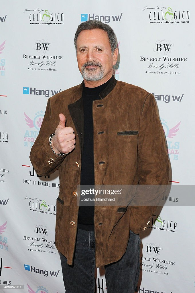 Actor/Musician <a gi-track='captionPersonalityLinkClicked' href=/galleries/search?phrase=Frank+Stallone&family=editorial&specificpeople=224755 ng-click='$event.stopPropagation()'>Frank Stallone</a> arrives at Angels For Animal Rescue benefit hosted by Joanna Krupa at the Beverly Wilshire Four Seasons Hotel on December 10, 2013 in Beverly Hills, California.