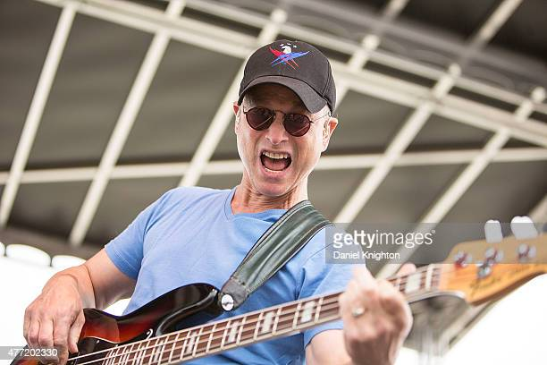 Actor/musician Gary Sinise of Gary Sinise and the Lt Dan Band performs on stage at Hotel Del Coronado on June 14 2015 in San Diego California