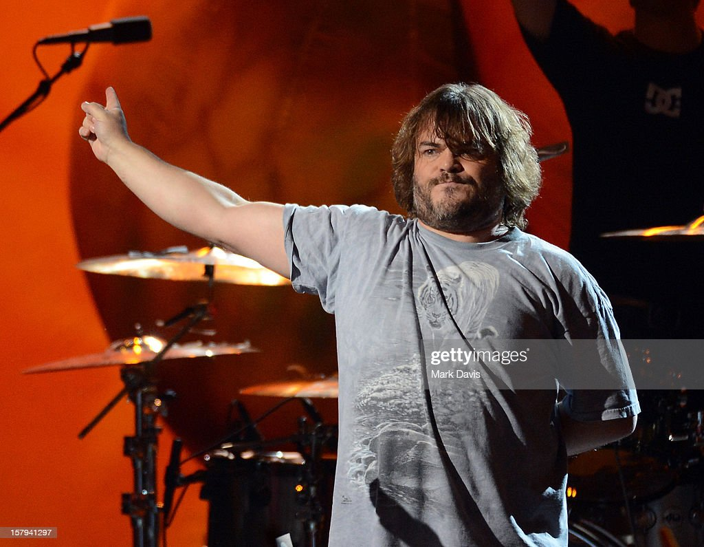 Actor/musician Jack Black of Tenacious D performs onstage during Spike TV's 10th annual Video Game Awards at Sony Studios on December 7 2012 in...