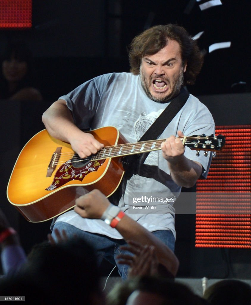 Actor/musician Jack Black of Tenacious D performs onstage during Spike TV's 10th annual Video Game Awards at Sony Studios on December 7, 2012 in Culver City, California.