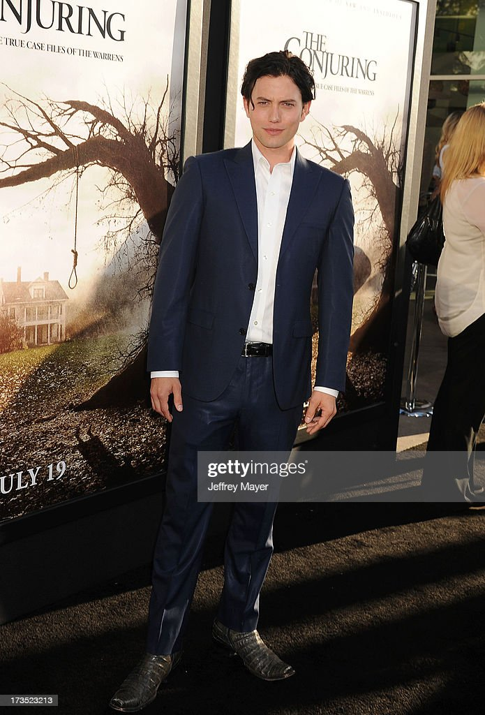 Actor/musician Jackson Rathbone arrives at 'The Conjuring' Los Angeles Premiere at the ArcLight Cinemas Cinerama Dome on July 15, 2013 in Hollywood, California.
