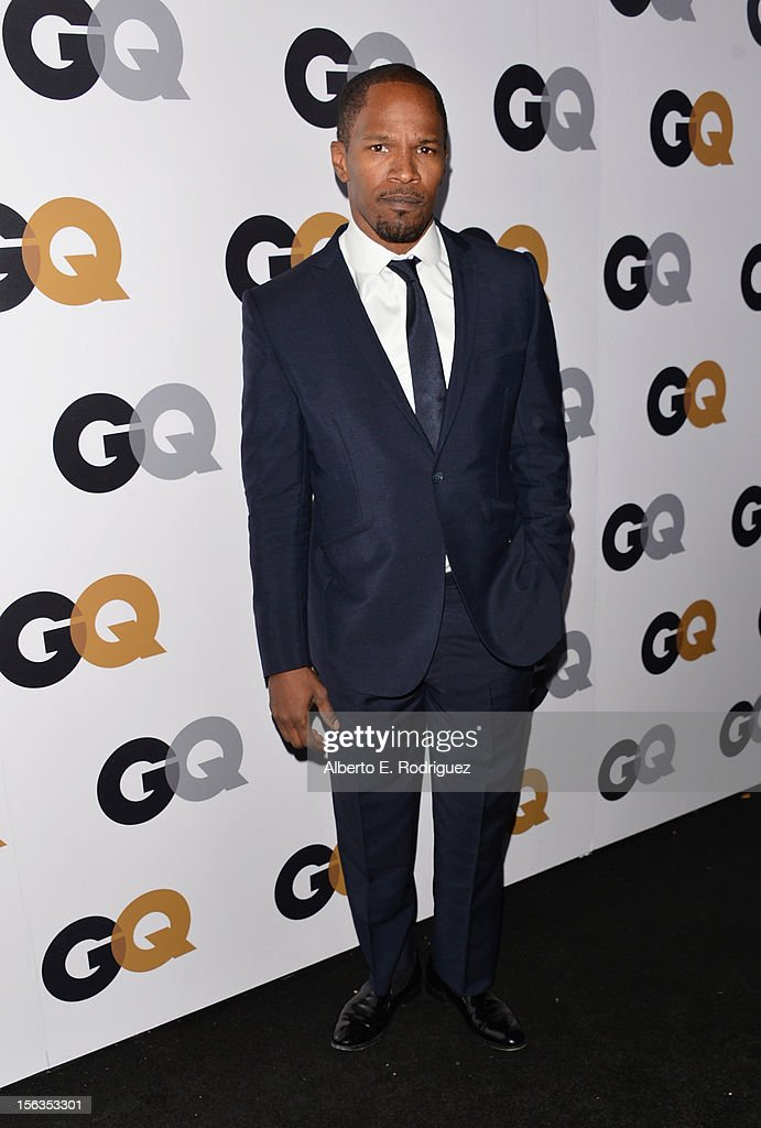Actor-musician Jamie Foxx arrives at the GQ Men of the Year Party at Chateau Marmont on November 13, 2012 in Los Angeles, California.