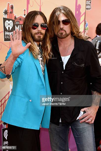 Actor/musician Jared Leto and musician Billy Ray Cyrus attend the 2014 iHeartRadio Music Awards held at The Shrine Auditorium on May 1 2014 in Los...