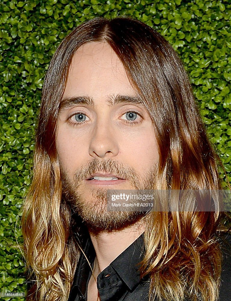 Actor/musician <a gi-track='captionPersonalityLinkClicked' href=/galleries/search?phrase=Jared+Leto&family=editorial&specificpeople=214764 ng-click='$event.stopPropagation()'>Jared Leto</a> arrives at the 17th annual Hollywood Film Awards at The Beverly Hilton Hotel on October 21, 2013 in Beverly Hills, California.