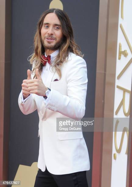 Actor/musician Jared Leto arrives at the 86th Annual Academy Awards at Hollywood Highland Center on March 2 2014 in Hollywood California