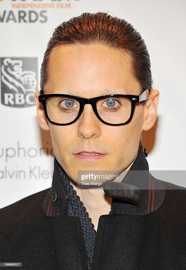 Actor/musician <a gi-track='captionPersonalityLinkClicked' href=/galleries/search?phrase=Jared+Leto&family=editorial&specificpeople=214764 ng-click='$event.stopPropagation()'>Jared Leto</a> attends the IFP's 22nd Annual Gotham Independent Film Awards at Cipriani Wall Street on November 26, 2012 in New York City.