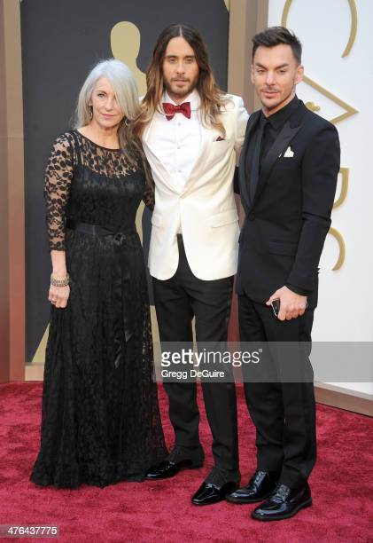 Actor/musician Jared Leto mom Constance Leto and brother Shannon Leto arrive at the 86th Annual Academy Awards at Hollywood Highland Center on March...