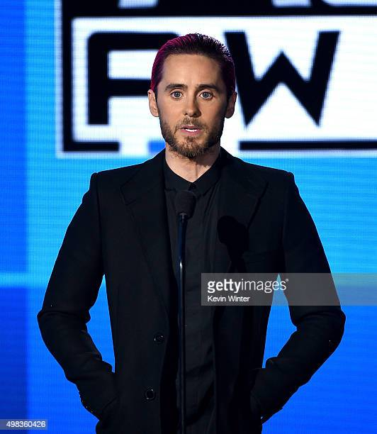 Actor/musician Jared Leto speaks onstage during the 2015 American Music Awards at Microsoft Theater on November 22 2015 in Los Angeles California