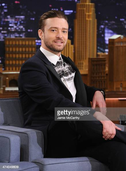 Actor/musician Justin Timberlake visits 'The Tonight Show Starring Jimmy Fallon' at Rockefeller Center on February 21 2014 in New York City