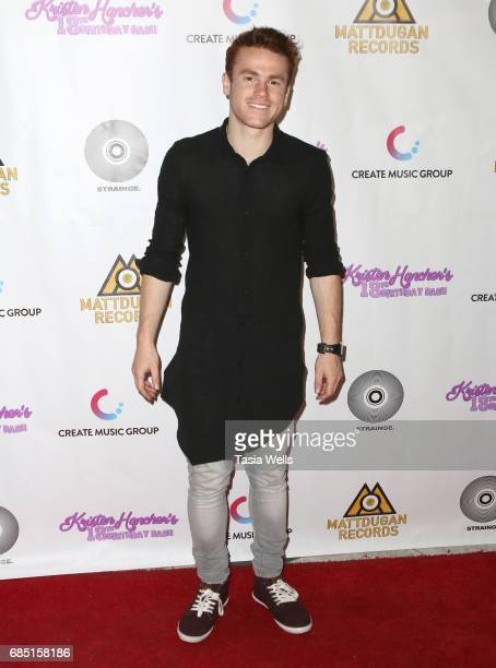 Actor/musician Justin Tinnuci attends social media star Kristen Hancher's Big 18th Birthday Bash at Bootsy Bellows on May 18 2017 in West Hollywood...