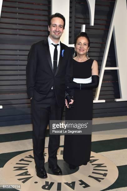 Actor/musician LinManuel Miranda and Luz TownsMiranda attends the 2017 Vanity Fair Oscar Party hosted by Graydon Carter at Wallis Annenberg Center...