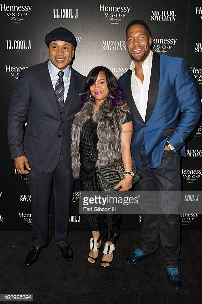 Actor/Musician LL Cool Day Simone Smith and Michael Strahan attend the Hennessy Toast Achievements on February 7 2015 in Los Angeles California