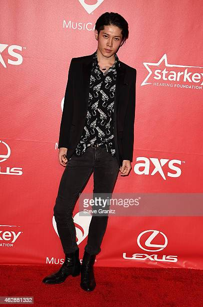 Actor/musician Miyavi attends the 25th anniversary MusiCares 2015 Person Of The Year Gala honoring Bob Dylan at the Los Angeles Convention Center on...