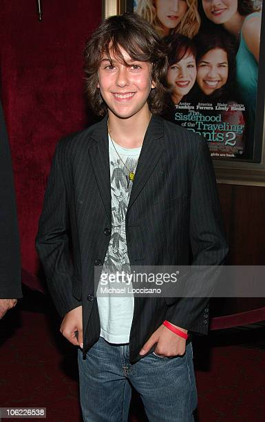 Actor/musician Nat Wolff of the Naked Brothers Band attends the premiere of 'The Sisterhood of the Traveling Pants 2' at the Ziegfeld Theatre on July...