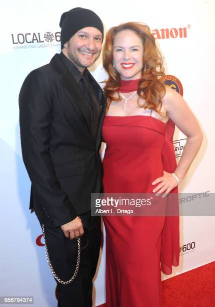 Actor/musician Neil D'Monte and actress Lisa Cash arrive for the 2017 Society Of Camera Operators Awards held at Loews Hollywood Hotel on February 11...