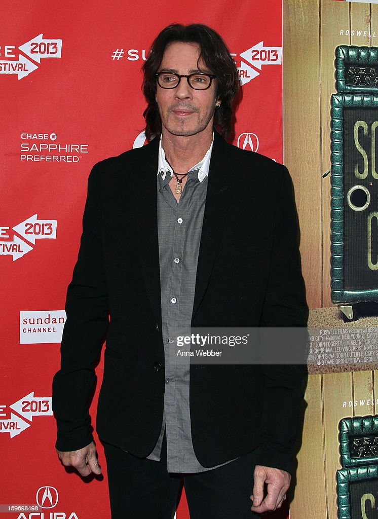 Actor/musician <a gi-track='captionPersonalityLinkClicked' href=/galleries/search?phrase=Rick+Springfield&family=editorial&specificpeople=242775 ng-click='$event.stopPropagation()'>Rick Springfield</a> attends the 'Sound City' premiere during the 2013 Sundance Film Festival at The Marc Theatre on January 18, 2013 in Park City, Utah.