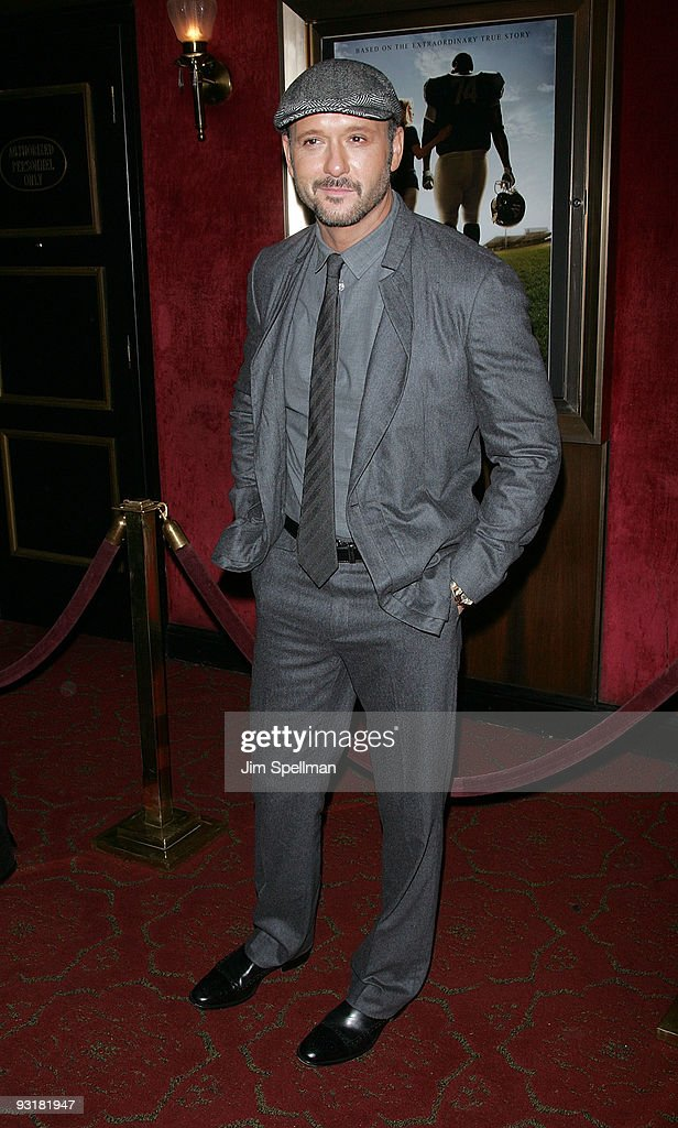 Actor/musician Tim McGraw attends 'The Blind Side' premiere at the Ziegfeld Theatre on November 17, 2009 in New York City.
