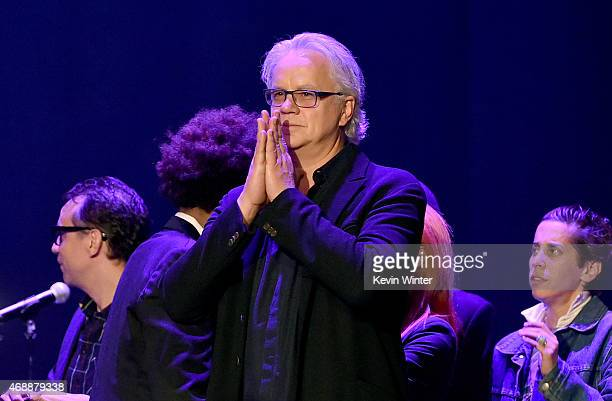 Actor/musician Tim Robbins performs osntage during The David Lynch Foundation's DLF Live Celebration of the 60th Anniversary of Allen Ginsberg's...