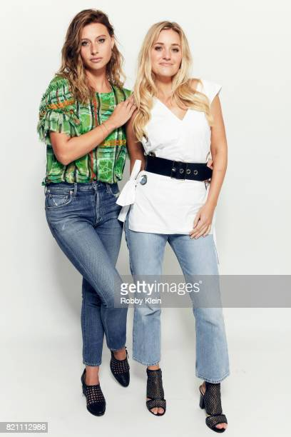 Actor/musicians Aly Michalka and AJ Michalka from Aly AJ pose for a portrait during ComicCon 2017 at Hard Rock Hotel San Diego on July 22 2017 in San...