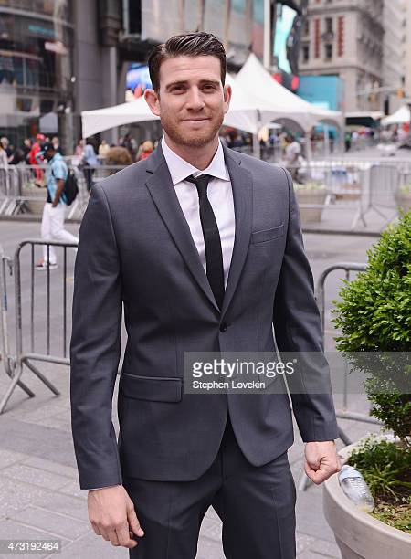 Actor/Olevolos Project Board Member Bryan Greenberg poses for a photo in front of The Nasdaq MarketSite after ringing the closing bell at The Nasdaq...