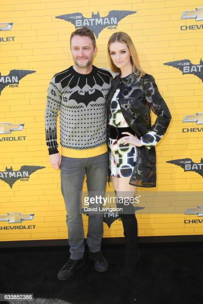 Actor/personality Chris Hardwick and wife/actress Lydia Hearst attend the Premiere of Warner Bros Pictures' 'The LEGO Batman Movie' at the Regency...