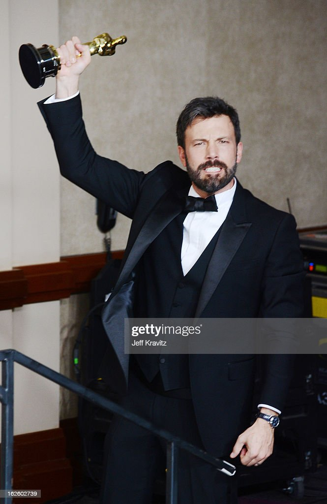 Actor/producer <a gi-track='captionPersonalityLinkClicked' href=/galleries/search?phrase=Ben+Affleck&family=editorial&specificpeople=201856 ng-click='$event.stopPropagation()'>Ben Affleck</a> poses in the press room during the Oscars at Loews Hollywood Hotel on February 24, 2013 in Hollywood, California.