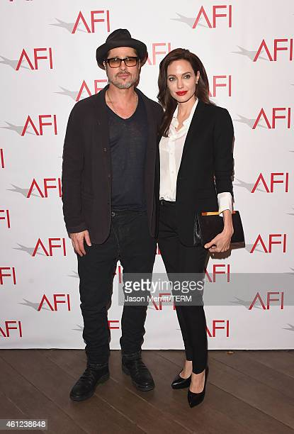 Actor/producer Brad Pitt and actress/director Angelina Jolie attend the 15th Annual AFI Awards at Four Seasons Hotel Los Angeles at Beverly Hills on...
