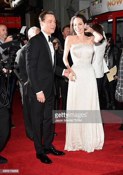 Actorproducer Brad Pitt and writerdirectorproduceractress Angelina Jolie Pitt attend the opening night gala premiere of Universal Pictures' 'By the...