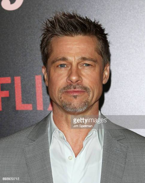 Actor/producer Brad Pitt attends The New York premiere of 'Okja' hosted by Netflix at AMC Lincoln Square Theater on June 8 2017 in New York City
