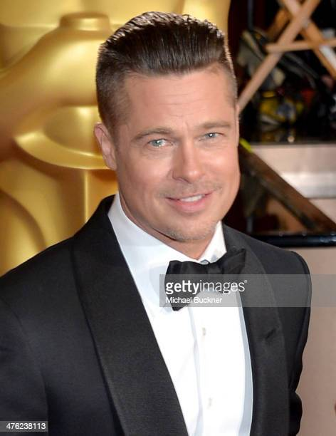 Actor/producer Brad Pitt attends the Oscars held at Hollywood Highland Center on March 2 2014 in Hollywood California