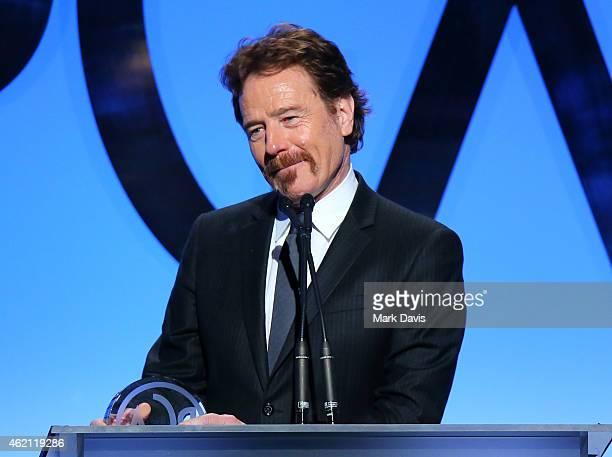 Actor/producer Bryan Cranston accepts the Outstanding Producer of Episodic Television Drama award for 'Breaking Bad' onstage during the 26th Annual...