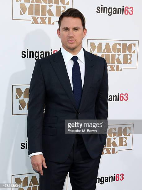 Actor/producer Channing Tatum attends the premiere of Warner Bros Pictures' 'Magic Mike XXL' at TCL Chinese Theatre IMAX on June 25 2015 in Hollywood...