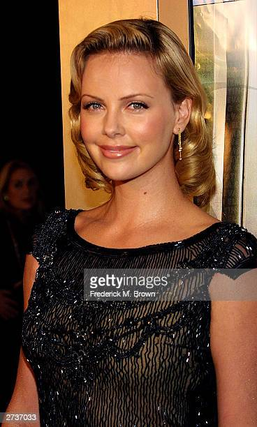 Actor/producer Charlize Theron attends the film premiere of 'Monster' at the Cinerama Dome Theatre during the AFI film festival's closing night...