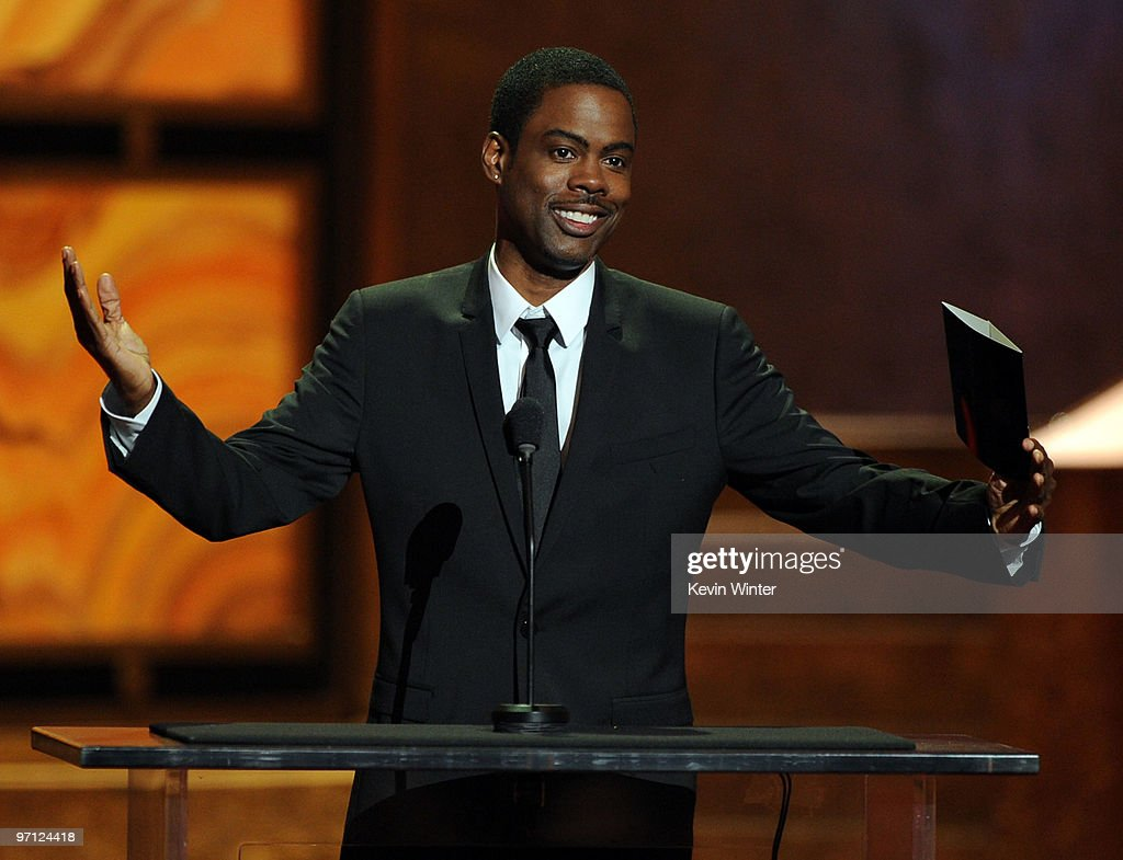 Actor/producer <a gi-track='captionPersonalityLinkClicked' href=/galleries/search?phrase=Chris+Rock&family=editorial&specificpeople=202982 ng-click='$event.stopPropagation()'>Chris Rock</a>, winner Outstanding Documentary (Theatrical or Television) for 'Good Hair,' onstage during the 41st NAACP Image awards held at The Shrine Auditorium on February 26, 2010 in Los Angeles, California.