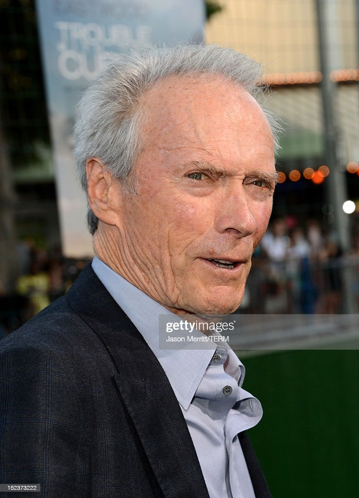 Actor/Producer <a gi-track='captionPersonalityLinkClicked' href=/galleries/search?phrase=Clint+Eastwood&family=editorial&specificpeople=201795 ng-click='$event.stopPropagation()'>Clint Eastwood</a> arrives at Warner Bros. Pictures' 'Trouble With The Curve' premiere at Regency Village Theatre on September 19, 2012 in Westwood, California.