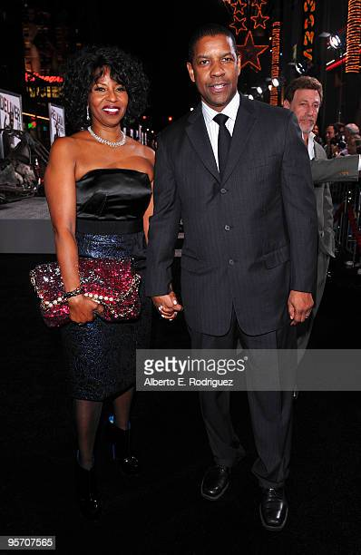 Actor/producer Denzel Washington and wife Pauletta Washington arrive at the premiere of Warner Bros 'The Book Of Eli' held at Grauman's Chinese...